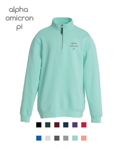 Alpha Omicron Pi // Embroidered Charles River Crosswinds Fleece Quarter Zip Jacket