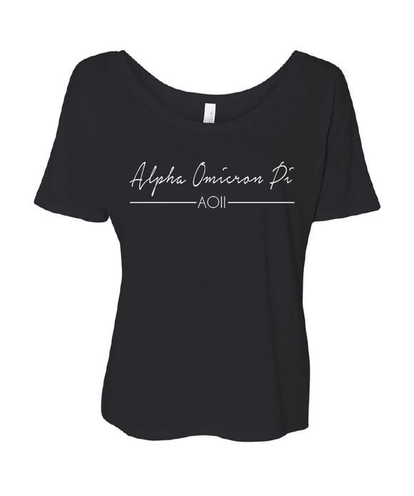 Alpha Omicron Pi // Sorority Bella Flowy Scoop Neck Tee (Notera)