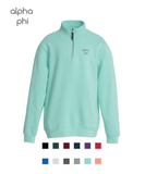 Alpha Phi // Embroidered Charles River Crosswinds Fleece Quarter Zip Jacket