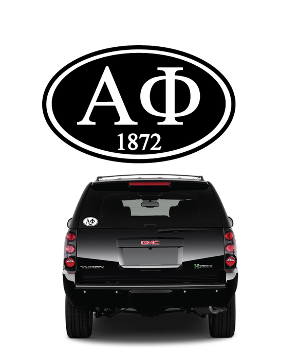 Alpha Phi // Window Decal (Oval)