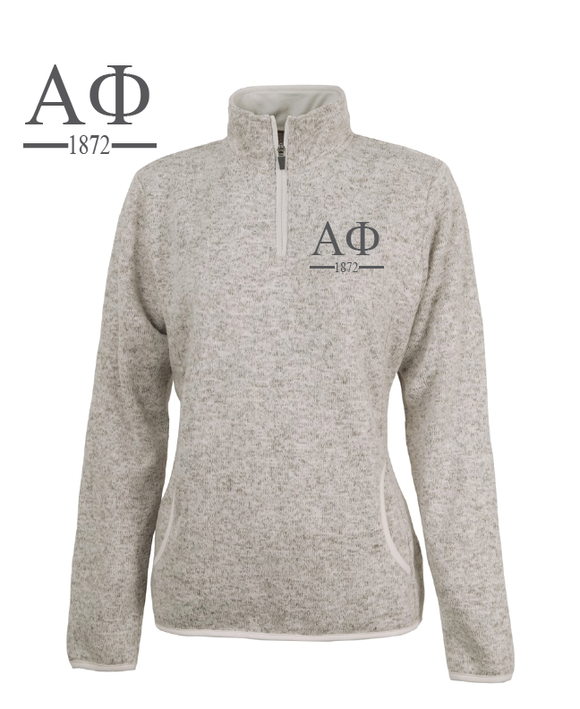 Alpha Phi // Charles River Heather Fleece Pullover
