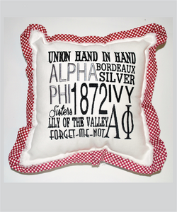 APhi Embroidered Pillow