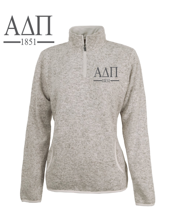 Alpha Delta Pi // Charles River Heather Fleece Pullover