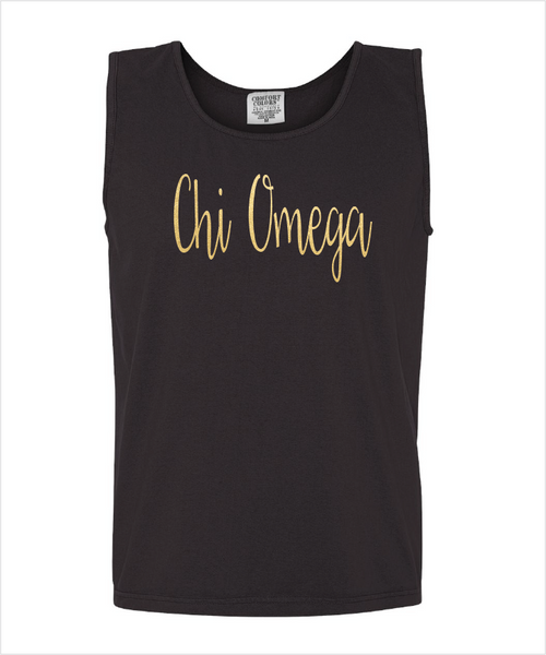 ChiO Gold Foiled Black Tank