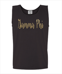 GAMMA PHI BETA FOILED COMFORT COLOR TANK