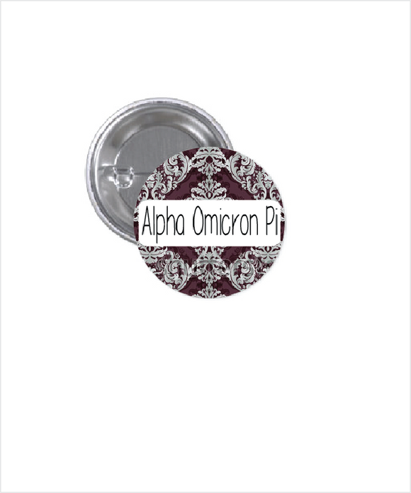 ALPHA OMICRON PI BUTTON