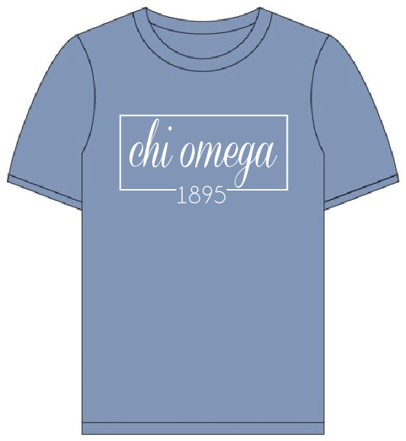 Chi Omega // Comfort Color Short sleeve (Coneria) T-shirt