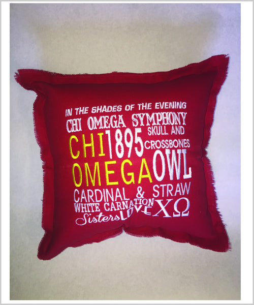 CHIO Embroidered Pillow: Colored