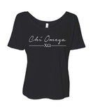 Chi Omega // Sorority Bella Flowy Scoop Neck Tee (Notera)