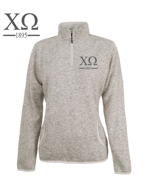 Chi Omega // Charles River Heather Fleece Pullover