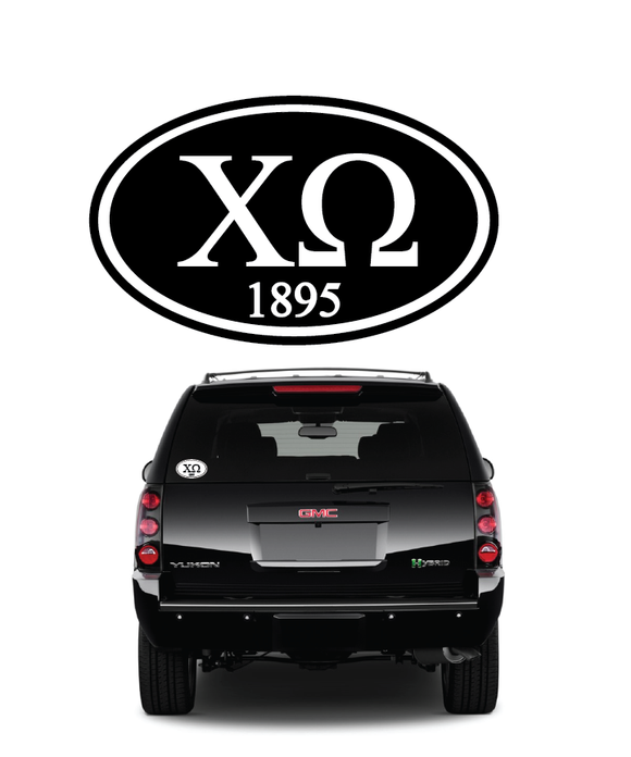 Chi Omega // Window Decal (Oval)