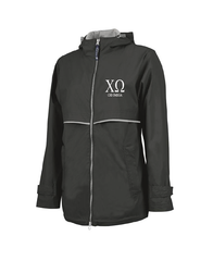 Chi Omega // Charles River Full Zip Rain Jacket (New Englander)