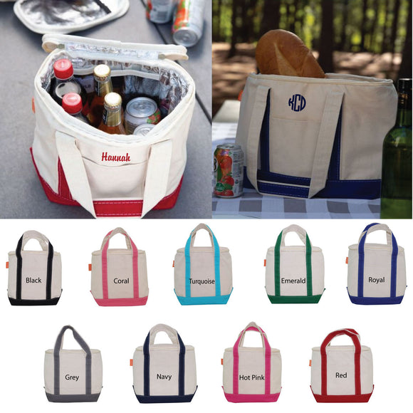 Personalized Canvas Lunch Tote Cooler