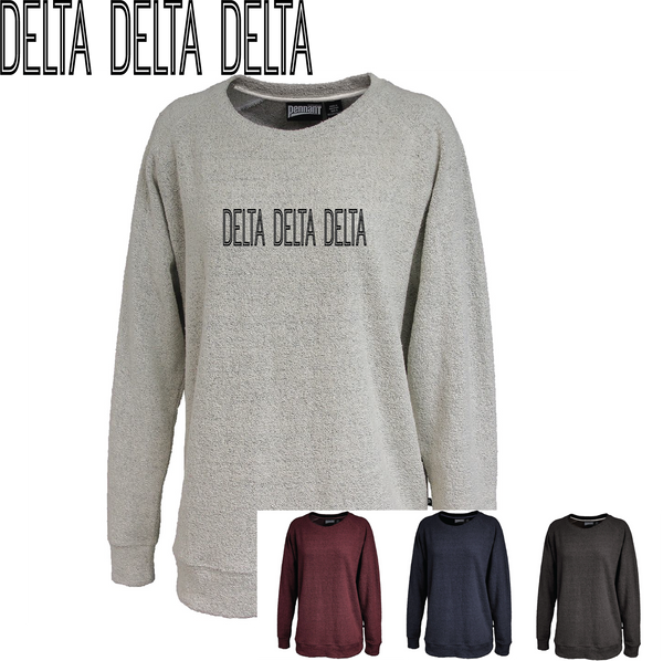 Delta Delta Delta // Poodle Fleece Embroidered Crewneck