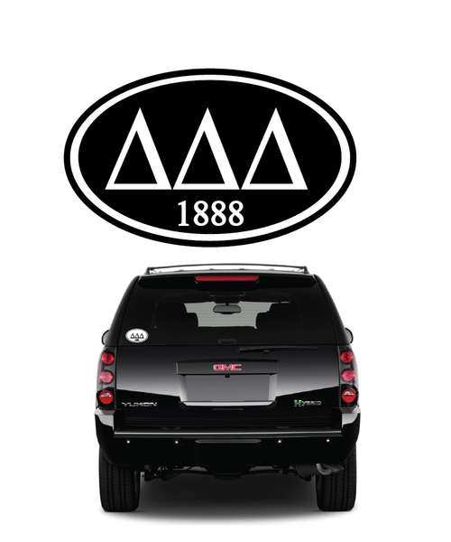 Delta Delta Delta // Window Decal (Oval)
