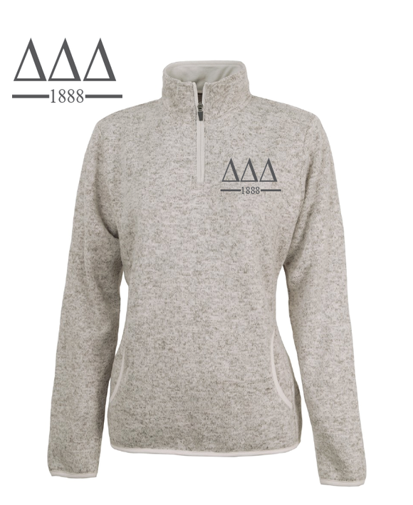 Delta Delta Delta // Charles River Heather Fleece Pullover
