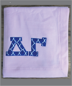 DG Sorority Sweatshirt Fleece Blanket