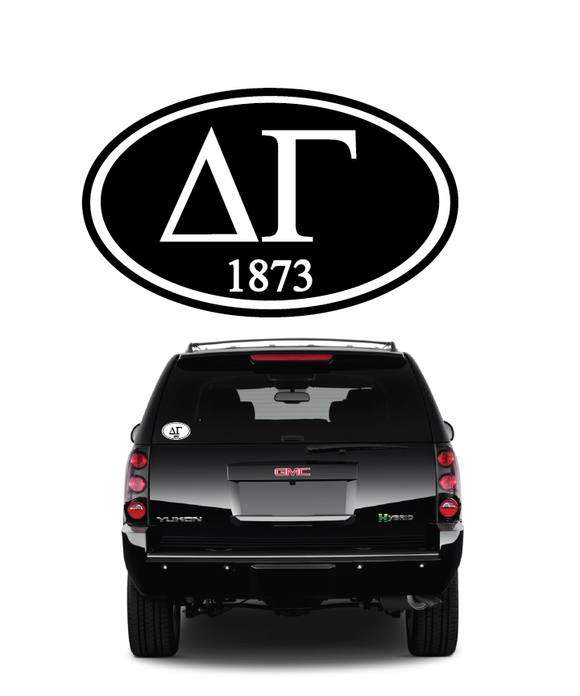 Delta Gamma // Window Decal (Oval)