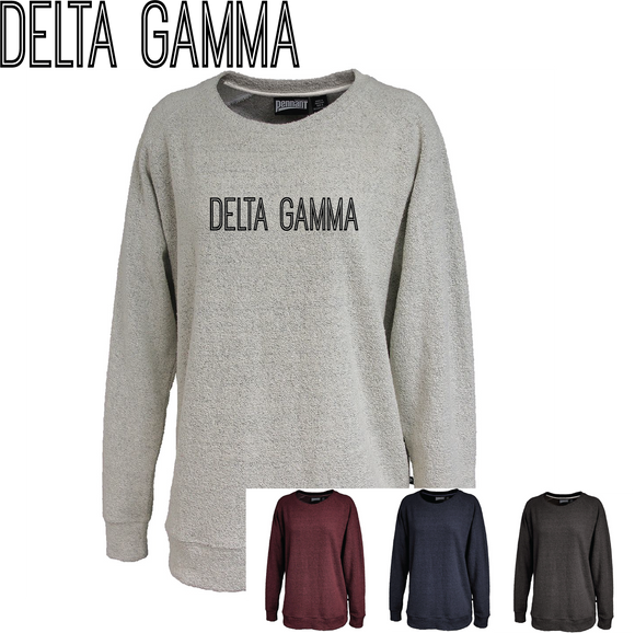 Delta Gamma // Poodle Fleece Embroidered Crewneck