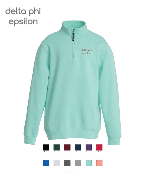 Delta Phi Epsilon // Embroidered Charles River Crosswinds Fleece Quarter Zip Jacket