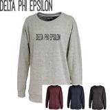 Delta Phi Epsilon // Poodle Fleece Embroidered Crewneck