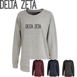Delta Zeta // Poodle Fleece Embroidered Crewneck