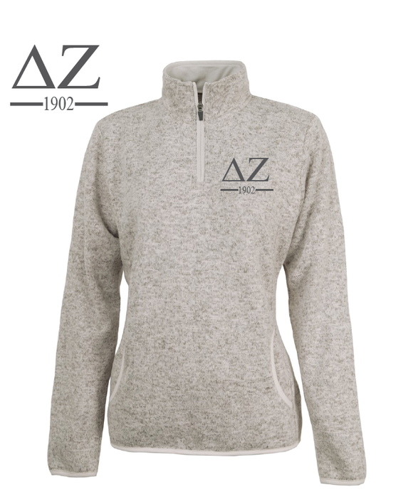 Delta Zeta // Charles River Heather Fleece Pullover