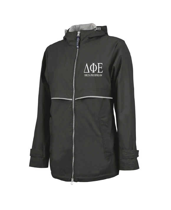 Delta Phi Epsilon // Charles River Full Zip Rain Jacket (New Englander)