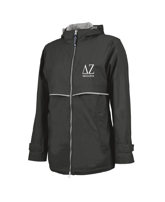 Delta Zeta // Charles River Full Zip Rain Jacket (New Englander)