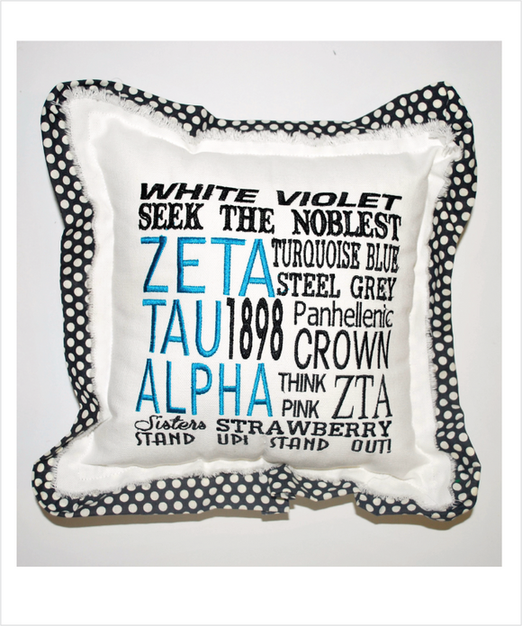 Zeta Embroidered Pillow
