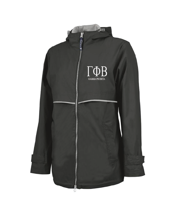 Gamma Phi Beta // Charles River Full Rain Jacket (New Englander)