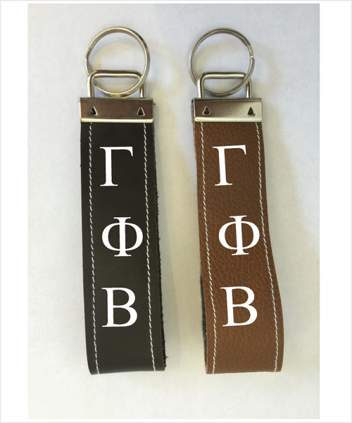 Gamma Phi Beta Leather Keyfob