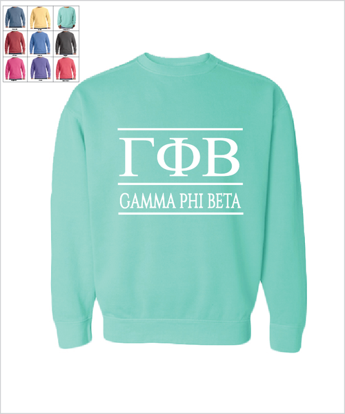 "Gamma Phi Beta ""The Greek"" Sweatshirt"