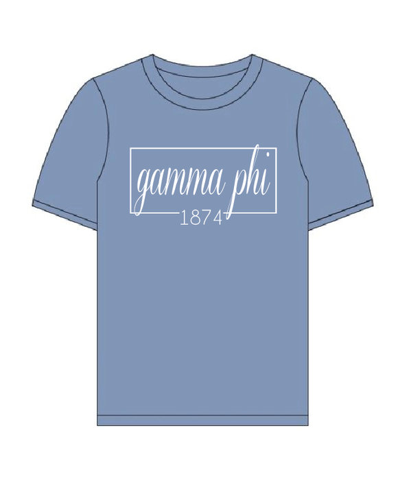Gamma Phi Beta // Comfort Color Short sleeve (Coneria) T-shirt
