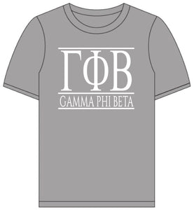 Gamma Phi Beta // Short Sleeve (Greek Letters) T-Shirt
