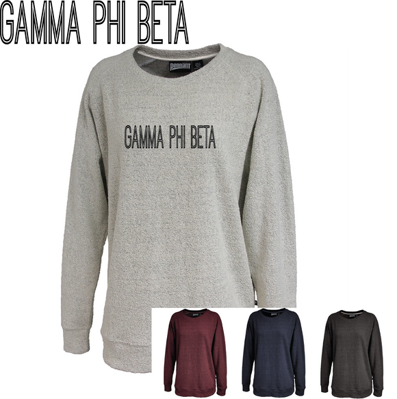 Gamma Phi Beta // Poodle Fleece Embroidered Crewneck