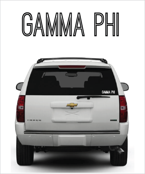 "Gamma Phi Beta ""Ostrich"" decal"