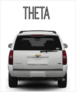 "Theta ""Ostrich"" decal"