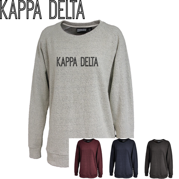 Kappa Delta // Poodle Fleece Embroidered Crewneck