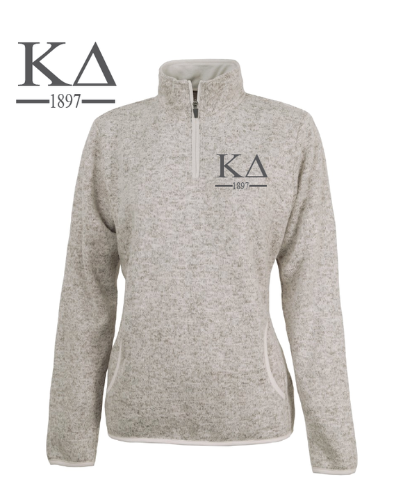 Kappa Delta // Charles River Heather Fleece Pullover