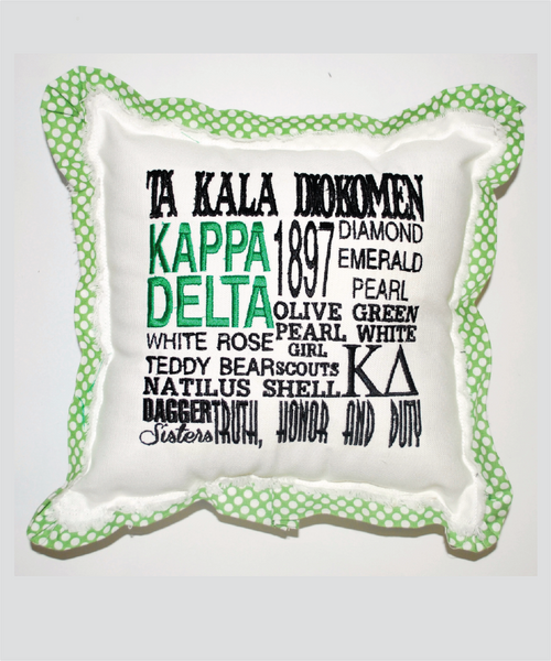 KD Embroidered Pillow