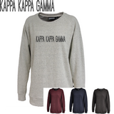 Kappa Kappa Gamma // Poodle Fleece Embroidered Crewneck