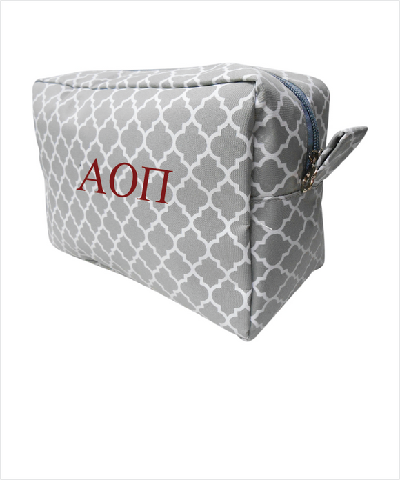 AOPi Embroidered Cosmetic Bag