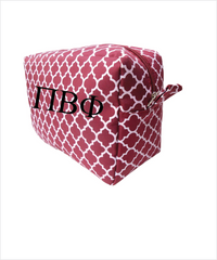 Pi Phi Embroidered Cosmetic Bag