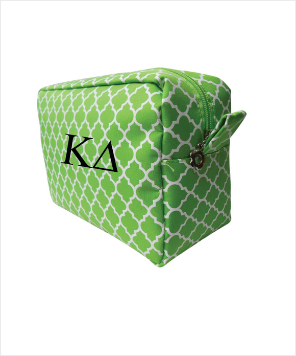 KD Embroidered Cosmetic Bag
