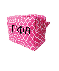 Gamma Phi Beta Embroidered Cosmetic Bag