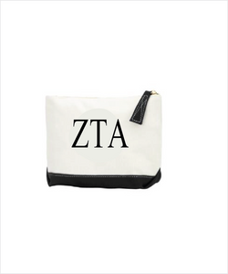 Zeta Embroidered Makeup Bag