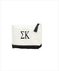 Sigma Kappa Embroidered Makeup Bag