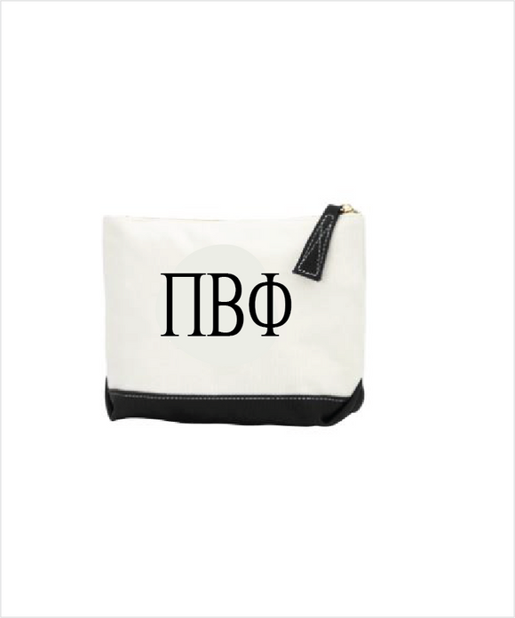 Pi Phi Embroidered Makeup Bag