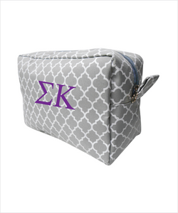 Sigma Kappa Embroidered Cosmetic Bag